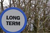 Long term road sign