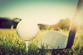 picture of balls  - Playing golf - JPG