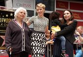 LOS ANGELES - MAY 01:  Scarlett Johansson & Family arrives to the Walk of Fame Ceremony for Scarlett