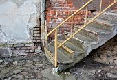 dilapidated stairs