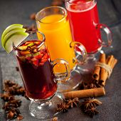Warm Cocktail - Mulled Wine and Berries Tea