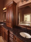 Luxury Home Tile Bathroom Double Sink