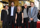 LOS ANGELES - JAN 29:  Peter Roth, Jeremy Sisto, Cheryl Hines, Larry David and Kevin Nealon Walk of