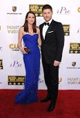 LOS ANGELES - JAN 16:  Jensen Ackles & Danneel Ackles arrives to the Critics' Choice Movie Awards 20