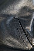Leather Jacket Detail With Pocket
