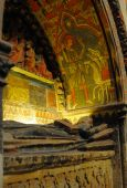 The dormition of a bishop old cathedral Salamanca Spain