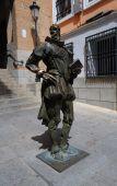 Miguel de Cervantes statue at Toledo Spain