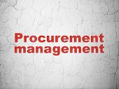 Business concept: Procurement Management on wall background