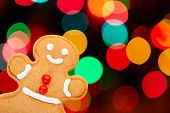 Gingerbread Man With Bokeh