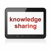 Education concept: Knowledge Sharing on tablet pc computer