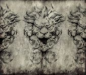 pic of gargoyles  - Tattoo art - JPG