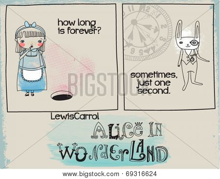 Alice in Wonderland Quotes Doodle