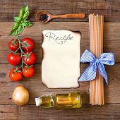Ingridients For Pasta With Tomato Sauce