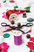 scenery and decorations and sewing accessories