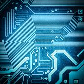 Circuit Board Texture Closeup