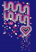 Hearts And Rainbows With Sequins