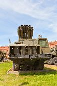 Soviet Multiple Rocket Launcher System 9A52 Smerch
