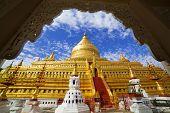 Shwezigon Pagoda,bagan, Myanmar