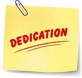 Vector Dedication Message