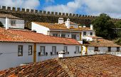 Rooftops Of The Houses In Obidos, Portugal