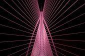 Seri Wawasana Bridge at night