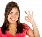 Girl Doing Ok Sign