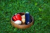 vegetables for grill on grass