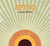 Abstract retro starburst background