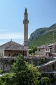 Minaret in the old town of Mostar