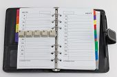 Day planner with writing