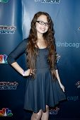 NEW YORK-JUL 30: Singer Mara Justine attends the 'America's Got Talent' post show red carpet at Radio City Music Hall on July 30, 2014 in New York City.