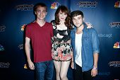 NEW YORK-JUL 30: (L-R) Sammy Affer, Olivia Millerschin and Matt Heim attend the 'America's Got Talent' post show red carpet at Radio City Music Hall on July 30, 2014 in New York City.