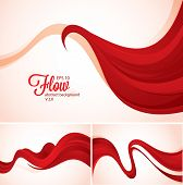 Flow abstract background