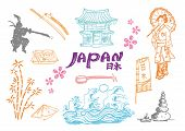 Japan Doodle Collection 2. Vector Illustration