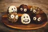 Chocolate Cakes In The Form Of Monsters And Skeletons For Kids