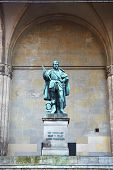 picture of graff  - The statue of Graff Tilly in front of the Feldherrnhalle  - JPG