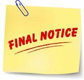 Vector Final Notice Message