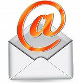 Vector Orange Mail Icon