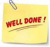 Vector Well Done Message