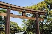 TOKYO JAPAN - APRIL 15: Meiji-jingu in Tokyo Japan on April 15 2014