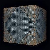 cyan rhombs surface cube