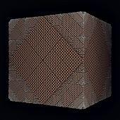 brown rhombs surface cube