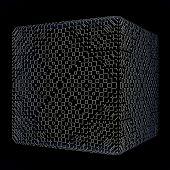 solid dark cube