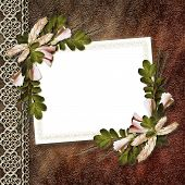 Flowered Framework For Greeting, Congratulations Or Invitation.