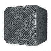Solid Grey Cube
