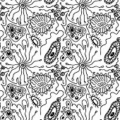 Seamless pattern with bacteria