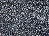 Black Rock Pebbles Mineral Stones Background