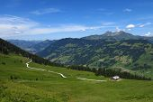 Distant View Of Gstaad And Lauenenhorn