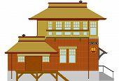 Rural Railroad Depot