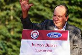 Johnny Bench and Hall of Fame Parade
